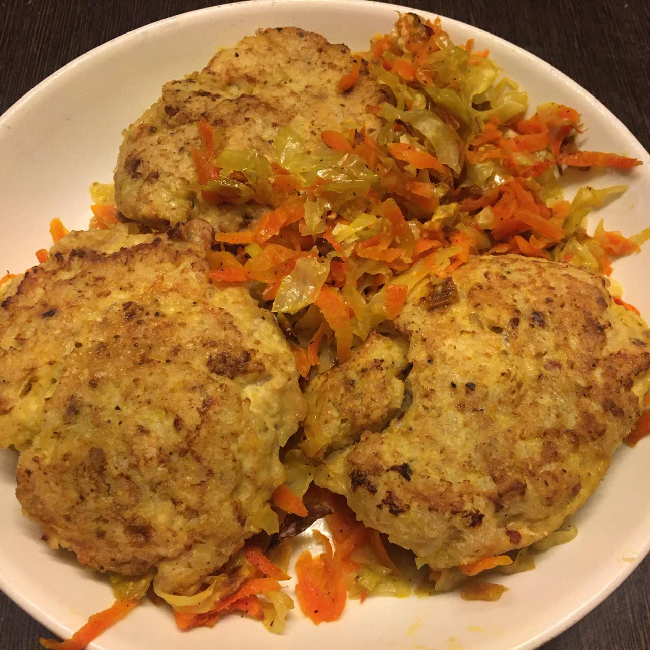 Baked Chicken & Rice Cutlets